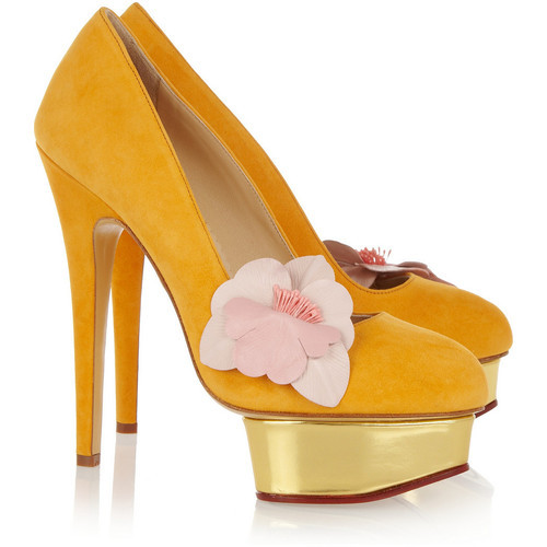 Charlotte Olympia pumps (see more strappy high heels)