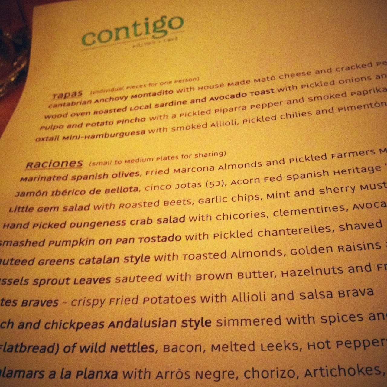 Love love this place. at Contigo – View on Path.