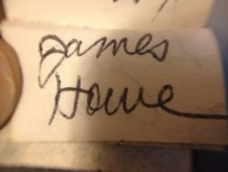 James Howe. I believe I got this at the wonderful Sunnyside event in Tarrytown, NY in 2006.