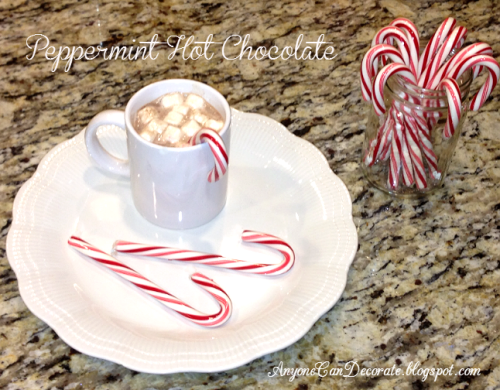 Hot Chocolate with a Candy Cane Twist