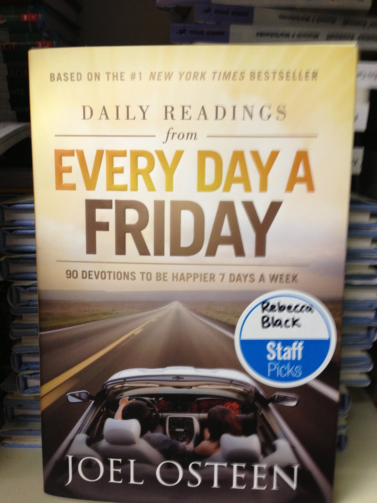 Rebecca Black approves of this book.