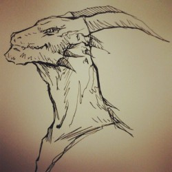 Sketching a dragonsaur #JustForFun (at Altos de Tierra Santa)