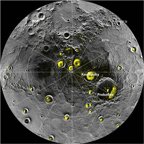 Mercury ice water discovery bodes well for alien life search (Photo: NASA / Johns Hopkins University Applied Physics Lab / Carnegie Institution of Washington / National Astronomy and Ionosphere Center, Arecibo Observatory) The discovery of huge amounts of water ice and possible organic compounds on the heat-blasted planet Mercury suggests that the raw materials necessary for life as we know it may be common throughout the solar system, researchers say. Read the complete story.