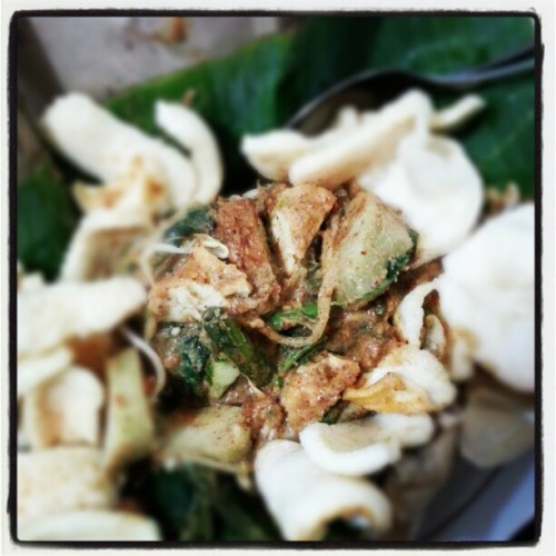 Lunch break with Pecal Lontong #foods #Indonesian #traditional #instafoods #instadaily #instadroid #instaphoto #instaworld #foodporn #instagram #fairlygirl85  (at KA Office)