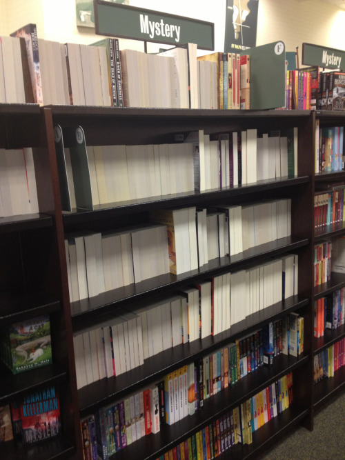 lulz-time:  santablainey: Look what someone did to our mystery section. LOOK AT IT.  Be sure to follow this blog, it'll look great on your dashboard