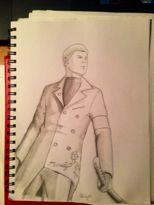 Got another sketch done tonight, new Vergil from DMC.
