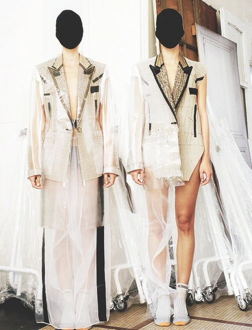 At Maison Martin Margiela Atelier, by Estelle Hanania for Dazed & Confused, November 2011