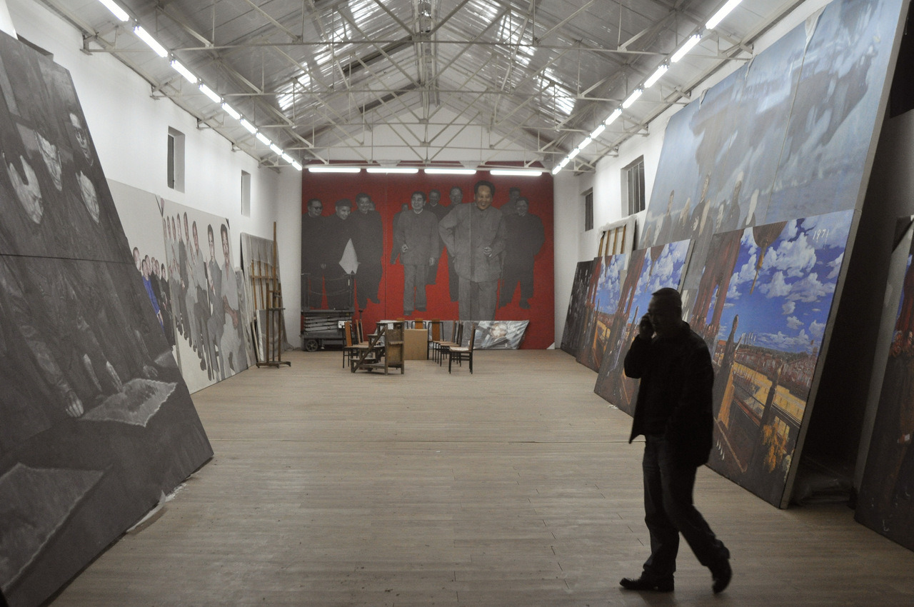 The Lives of the Artists: Footsteps, Ma Baozhong's Studio, Songzhuang, Beijing.
