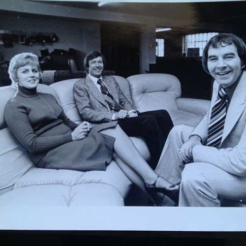 Mum, Dad and Alex Ferguson (then managing St. Mirren) all drumming up publicity in Paisley. Must have been mid-late seventies