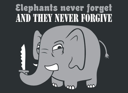 Elephants never forget…