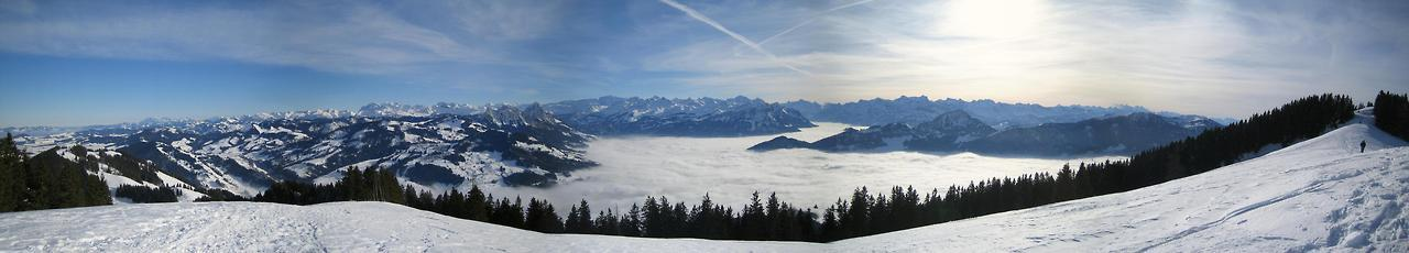 Panorama in Switzerland (from Wildspitz)