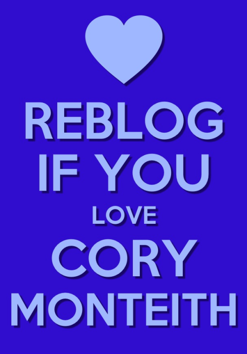 welovecoryandfinn:  Reblog if you love cory monteith