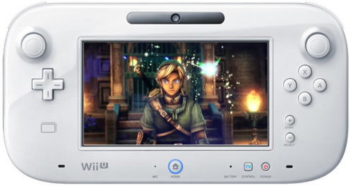 Zelda for Wii U to use GamePad in creative ways! While the the Legend of Zelda: Skyward Sword on Wii was all about motion control, Zelda for the Nintendo Wii U will have more traditional control and make use of every function of the Wii U GamePad. The Wii U GamePad incorporates a 6.2-inch, 16:9 touch screen and traditional button controls, including two analog sticks. This combination removes the traditional barriers between games, players and the TV by creating a second window into the video game world. The rechargeable controller includes a Power button, Home button, +Control Pad, A/B/X/Y buttons, L/R buttons and ZL/ZR buttons. It includes a built-in accelerometer and gyroscope, rumble feature, camera, a microphone, stereo speakers, a sensor strip, stylus and Near Field Communication.