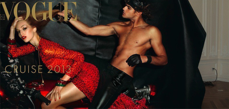 Vanessa Axente & Marlon Teixeira for Vogue Italia December 2012.