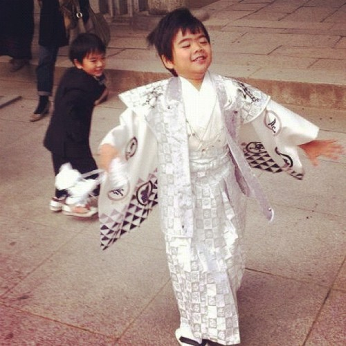 My two handsome lil brothers playing around after their photoshoot. #japanese #brothers #costume #igdaily #iphonesia #ifollowback #instalove