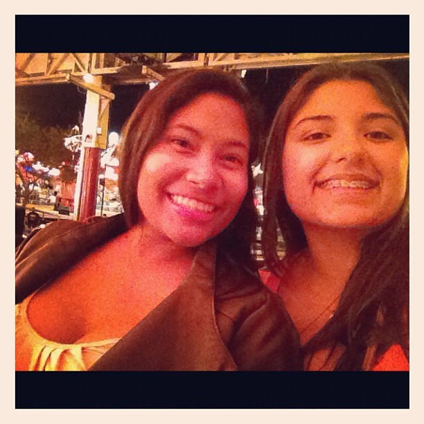 At the fair! With @jebimpa :-)