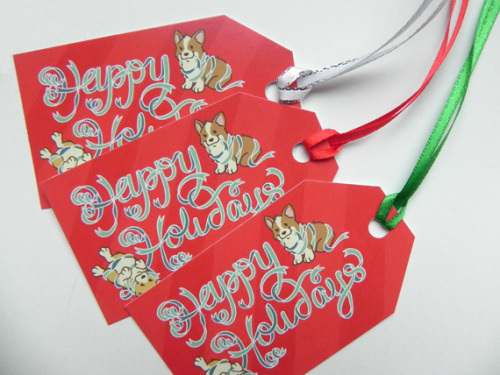 Corgi gift tags are now available in my Etsy shop! Just in time for the holidays!