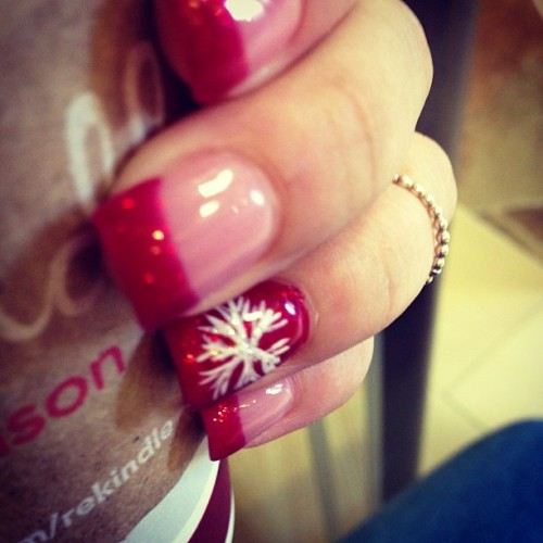 Nails are done! #Christmas #Starbucks #pretty #Red
