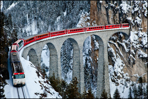 landscapelifescape:  Graubünden, Switzerland Trainspotting II by Jan Geerk