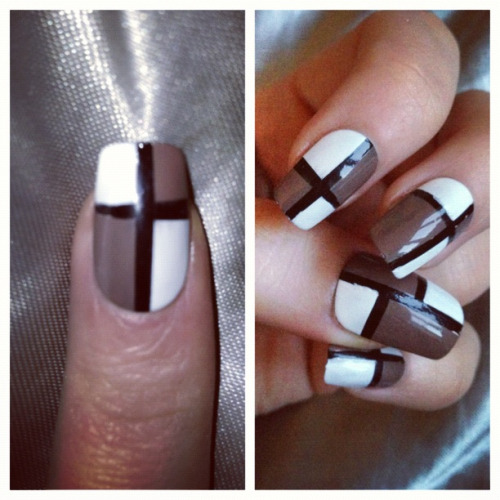 Something a little different for me. I'd class these as smart classy nails ha.   Like my Facebook page:  www.facebook.com/ellysclaws