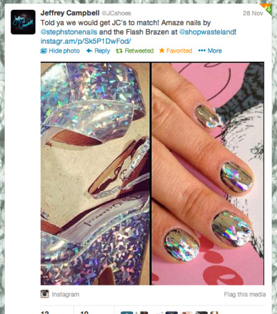 @JCShoes loved @stephstonenails Flash Brazen inspired nails!