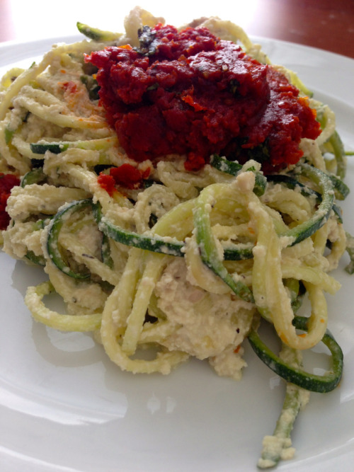 (Click here for recipe Cheesy Zucchini w/ Sun-Dried Tomato Topping)