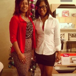 Me and mommy last night !