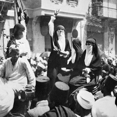 ambientclouds:  Egyptian Women Revolution Against the British Occupation - 1919