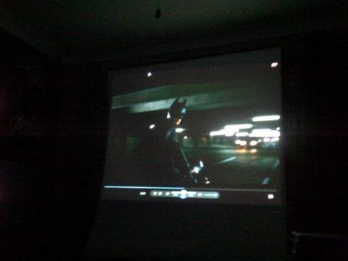 Got my projector working in my room.  Why hello there, home cinema.