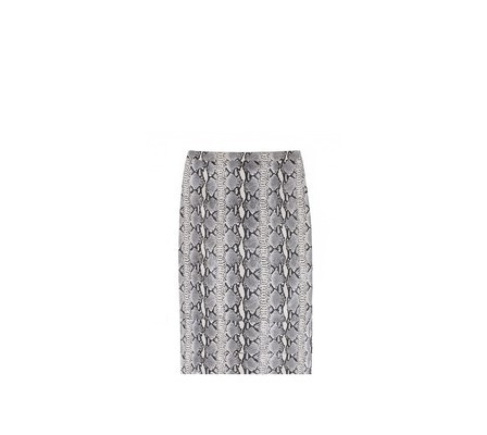evachen212:  snake charmer: love this python printed Tibi skirt. I'd pair it with a chunky knit black turtleneck and a pair of Manolo BB pumps