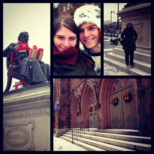 Snow!!! (at Longfellow Square)