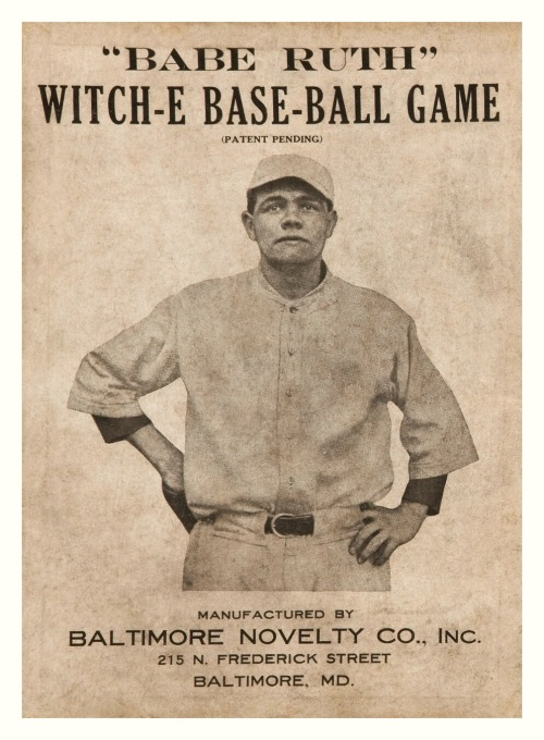 """Babe Ruth"" Witch-E Base-Ball Game c.1920 - Baltimore Novelty Co., Inc."