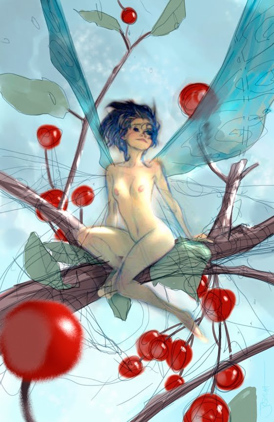 Berry Faery by Joshua Middleton