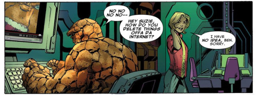 Fantastic Four #1 (2012) written by Matt Fraction, pencils by Mark Bagley, inks by Mark Farmer