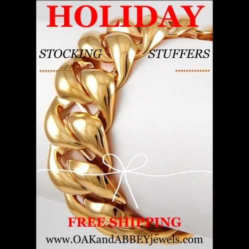 OAKandABBEY 🎁Holiday Shop🎁 BOLD GOLD! www.OAKandABBEYjewels.com FREE SHIPPING! #accessories #fashion #jewelry  (at www.OAKandABBEYjewels.com)