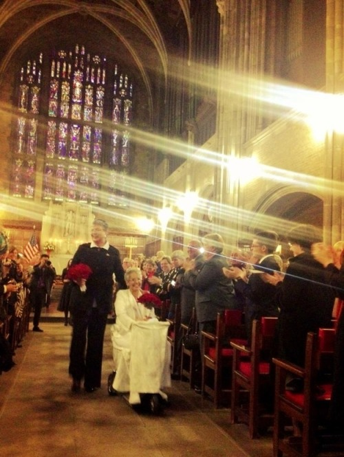 "First Same-Sex Couple Marries At West Point Chapel. A little more than a year after ""Don't Ask, Don't Tell"" ended, Brenda Sue Fulton, one of its key opponents, married her longtime partner at her alma mater."