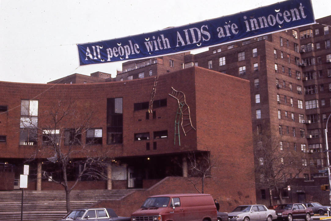 GRAN FURYALL PEOPLE WITH AIDS ARE INNOCENT , 1989 Manhattan, NYC_________________________________________________.