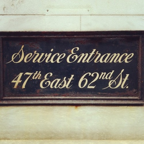 A handsome sign near the UES, 62nd Street. #lettering #signpainting