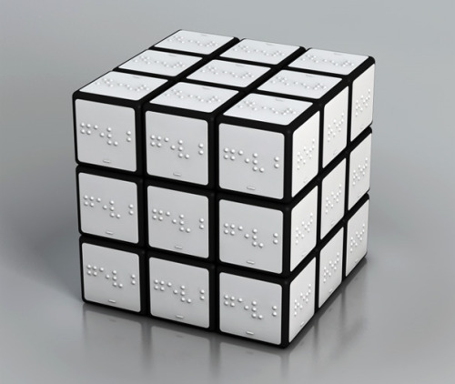 Simply ingenious: Rubik's Cube For The Blind. Seen on Yanko Design. Designer: Konstantin Datz