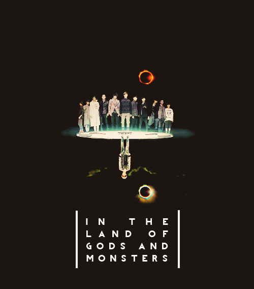 "kimri:  EXO in lyricism (13/∞) → Lana Del Rey ""Gods & Monsters""  ""I was an angelliving in the garden of evil"""