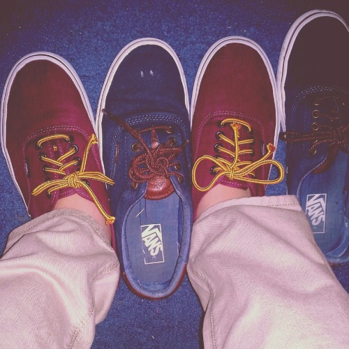 Two of my favorite pair of Vans.   www.natiliemaudenyhim.tumblr.com