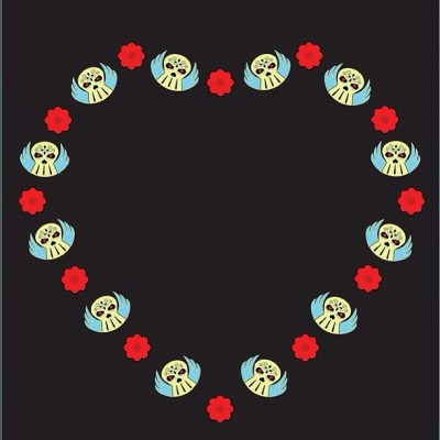 @GLOWING_SKULL #Heart #Design by #Artist @DENISEVASQUEZ now available on #Merchandise on @Zazzle