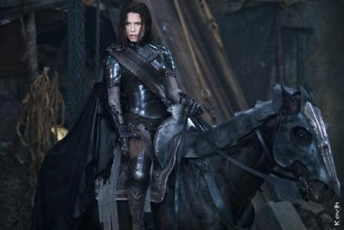 "medieval-times:  babesinarmor:  Underworld- Selene This armor is killer.  I know it's a movie prop, and that chain mail is ridiculous and everything, but I need this armor so bad. Even though it does not fit in period that me and my friends reenact.  It's really more ""Casual, every day"" armor. I'd reserve it for dressed-down job interviews, and birthday parties."