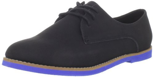 Madden Girl Women Jacobz Oxfords, black androgynous shoes