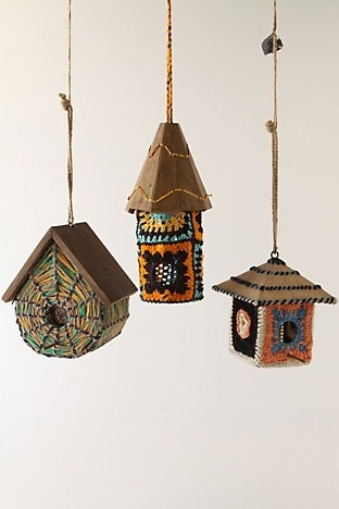 Pretty Little Crochet Bird Houses Source: Anthropologie