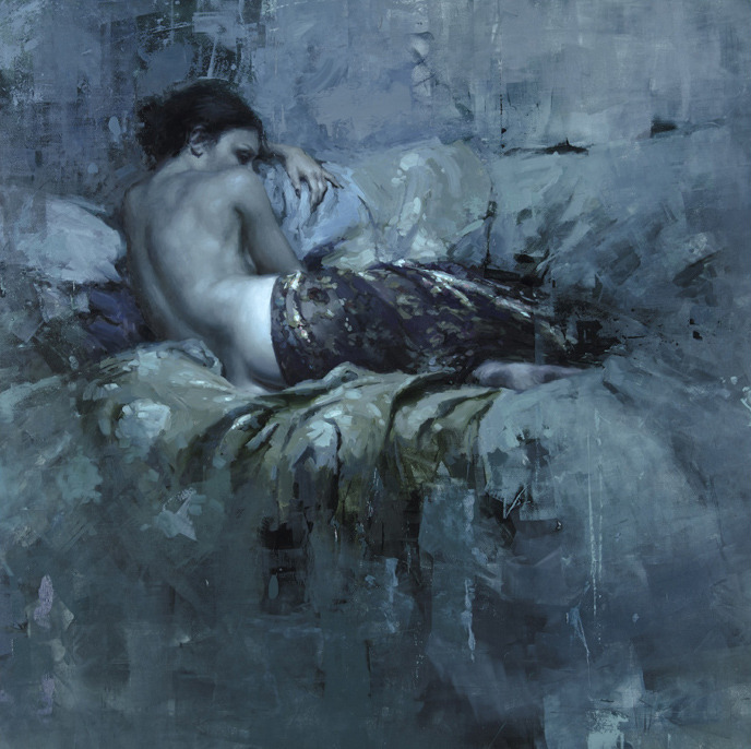 artchipel:   Jeremy Mann - Phosphorescent. Oil on Panel, 36x36 in.