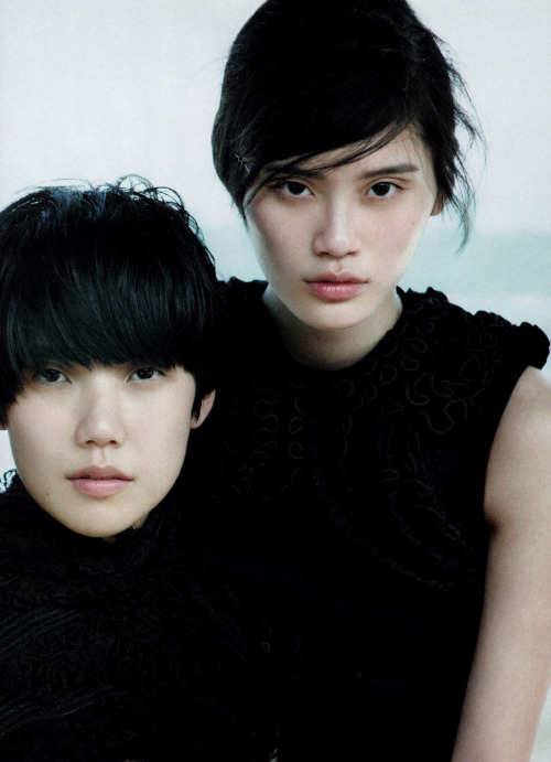 jeou:  black on black, tao okamoto and ming xi for vogue china, september 2010