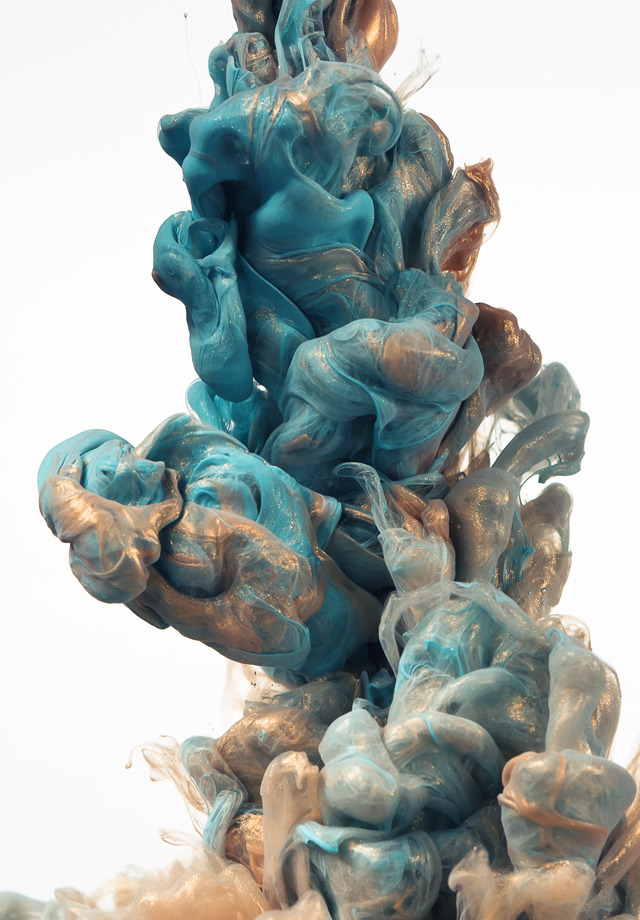 cafcaf:  Glittering Metallic Ink Clouds Photographed by Albert Seveso