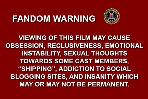 audreyii-fic:  celestetsukino:  I think some shows need their own warning labels before they play.   —Doctor Who, Sherlock, and Supernatural, I'm looking at you!—
