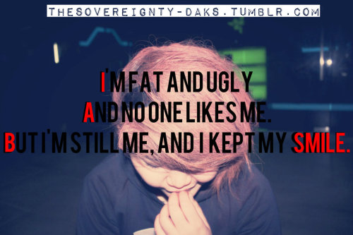 "thesovereignty-daks:  6) I'm not a very pretty girl. (The girl in the photo IS me.) I had bright color hair since I was 12. And I was either popular or hate for it. But my hair was like my canvas. I vent my anger on it. Lol. (I cut my really long hair out of anger once) Red hair: Angry, Blue hair: Sad. Etc. I have a really big built and was waaay bigger than the average girls in my school. Therefore I was called fat, ugly, monster, king kong, gorilla, crocodile. etc. But I kept my smile, because I remember what my bestfriend said; ""Debbie, you are the cutest girl I know in the world. But you are the most beautiful when you smile."" I think I didn't mention this. But Zarchy is in actualy fact gay. He fell in love with a girl (named Taya, my bestfriend from US) before he died though. So I guess…. Erms… he's bi?? xD 2007, Zarchy, Louis and Jeremiah created tumblr. And they called it Immortal-Love later, Louis decided on Immortality. (Special characters that replaces letters. I am still running the blog so I would not be giving out the links. But if you are lucky to come across our blog, good for you. Lol) I later joined ""forces"" with them because those 3 hotties needed a girl to talk to their girl followers. (I joined since 2009) Louis is 22, Jeremiah (Zarchariah's brother) is 27 <As of 2012> All of us were the victims of cyber bullying. Tumblr was a place for hipster people. And ALL of us were considered the ""scene-kids"". So nobody really liked us. There was less judging then, but more hate to be really honest. Read everything here: (To see how Society killed my bestfriend)"